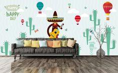 3D Green Plant 602 Wall Murals | AJ Wallpaper Kids Room Wallpaper, Paper Wallpaper, Self Adhesive Wallpaper, Custom Wallpaper, Mexico Cactus, 3d Wall Murals, Boy Decor, Traditional Wallpaper, Green Plants