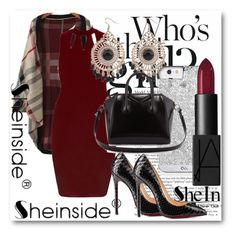 """Sheinside !!"" by dianagrigoryan ❤ liked on Polyvore featuring Givenchy, NARS Cosmetics and Christian Louboutin"