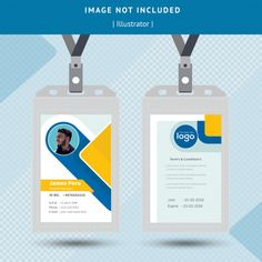 Id card design Premium Vector Identity Card Design, Id Card Design, Id Design, Graphic Design, Card Designs, Design Ideas, Employee Id Card, Company Id, Id Card Template