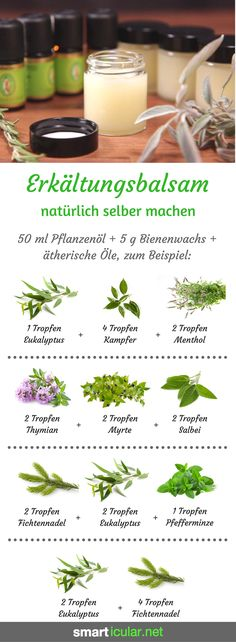 Erkältungssalbe blitzschnell angerührt: preiswert, wirksam und hautfreundlich Cold ointments smell good and relieve discomfort. However, most are based on mineral oils. A natural alternative is quickly stirred! Sent Bon, Homemade Cosmetics, Hygiene, Natural Cosmetics, Smell Good, Kraut, Diy Beauty, Beauty Care, Beauty Hacks