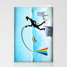 Fishing For Rainbows Stationery Cards by That's So Unicorny - $12.00