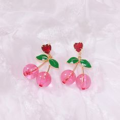 he always reminded me of a cherry, round, soft and amazing. i brought the earrings home and put them on him smiling broadly as he squeakes with joy Kawaii Jewelry, Kawaii Accessories, Jewelry Accessories, Jewelry Design, Piercings, Ear Jewelry, Cute Jewelry, Accesorios Casual, Disney Jewelry