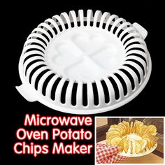 Hot Sale DIY Low Calories Microwave Oven Fat Free Potato Chips Maker Home New Free Shipping * Click on the image for additional details.