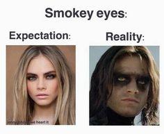 Risultati immagini per smokey eyes fail