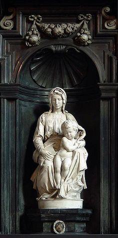 """""""madonna of bruges""""  by michelangelo c.1501-1504"""