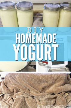 Making Homemade Yogurt, a New and Improved Simpler Method :: DontWastetheCrumb…. Making Homemade Yogurt, a New and Improved Simpler Method :: DontWastetheCrumb… Homemade Cheese, Homemade Yogurt, Homemade Smoothies, Homemade Butter, How To Make Cheese, Food To Make, Food Storage, Real Food Recipes, Healthy Recipes