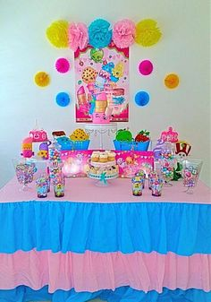 Cute Shopkins birthday party! See more party ideas at CatchMyParty.com!