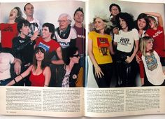 Too good. Glenn Close, Andy Warhol, Debbie Harry, Meatloaf and others celebrating the T-shirt... (Penthouse, 1979)