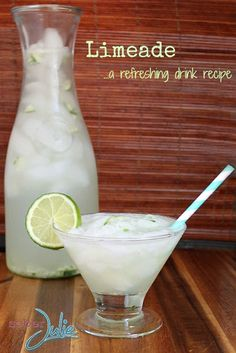 Today I'm sharing a refreshing drink recipe, my Limeade. It is easy to make and so delicious.