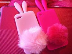 bunny iphone case and the fluffy tail acts like a stand. Girly Phone Cases, Phone Covers, Iphone Cases, Tablet Cases, Ipod, Friends Phone Case, Cute Cases, Everything Pink, Coque Iphone
