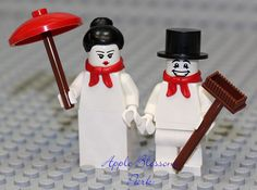 NEW Lego Christmas MR & MRS SNOWMAN Minifigs -Frosty Santa Helper Minifigures #LEGO