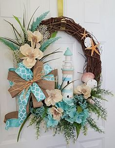 door wreaths coastal front wreath doors