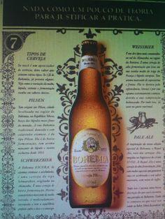 (1° Trabalho Analise do anúncio) As cores que compõem o anúncios da Bohemia, são cores bem discretas (o marrom, o bege), geralmente voltadas ao público adulto, ao contrário das outras cervejas que tem os anúncios bem coloridos, lembrando festa, agito, praia, juventude. A fonte, bem como a moldura trazem a idéia de um produto de tradição, no estilo retrô.