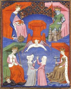 """Illustrations by the Master of the Cite des Dames, from the """"Works of Christine de Pisan"""", c. 1410-15"""