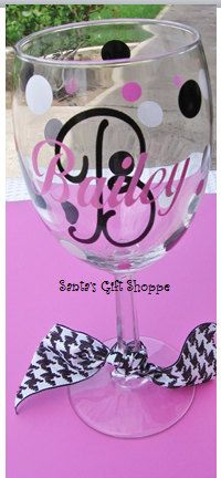 Glass Decals Monogrammed Inital/Name Personalized Vinyl