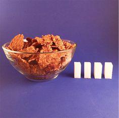 Quantidade de açúcar nos alimentos - Cereal Fit;