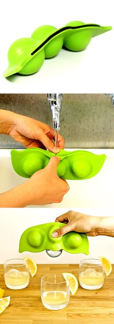When traditional ice cube trays are no longer appealing to you, try this frozen peas ice cube mould. Check it out ==>  | Frozen Peas Ice Cube Mould | http://gwyl.io/frozen-peas-ice-cube-mould/