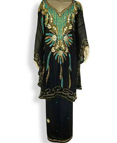 kaftan Abaya , 3 PIECES ( kaftan, wrapper, scarf) Absolutely Perfect for any Occasion It is FULLY LINED KAFTAN IS FREE SIZE INNER LINING CHOOSE SIZE Material: Chiffon Condition : - Brand New Brand : - Hand Made Type : - Kaftan Fabric color shown in the picture could be slightly