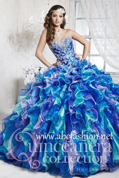 House of Wu Quinceanera Dress Style Number 26788 is made for Sweet 15 girls who want to look like a beautiful Princess on her special day. Made out of Organza, this multi-toned gorgeous quinceanera dr