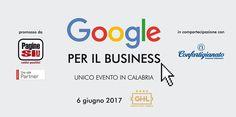 """Google Italia in collaborazione con Pagine Sì! S.p.A. e la compartecipazione di Confartigianato Imprese Catanzaro, organizza un evento formativo gratuito per titolari di azienda o loro delegati (iscriviti GRATUITAMENTE tramite il modulo di adesione cliccando sul pulsante """"Biglietti Disponibili"""") dal titolo """"Le piattaforme di Google per il business"""", tenuto direttamente da esperti di GOOGLE ITALY e Pagine Sì!. Il seminario è fissato per martedì 06/06/2017 presso il Grand Hotel Lamezia in…"""
