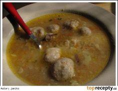 Falešné játrové knedlíčky Czech Recipes, What To Cook, Food 52, Cheeseburger Chowder, Food And Drink, Cooking, Soups, Czech Food, Hana