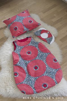 Child bib, toddler pillow, and child sleep sack. African Babies, African Children, African Inspired Clothing, African Print Fashion, African Prints, African Wear, African Dress, Toddler Pillow, African Accessories