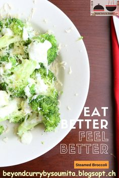 Steamed Broccoli, Broccoli And Cheese, Vegetarian Recipes, Healthy Recipes, Cheese Salad, Lettuce, Feel Better, Tube, Curry