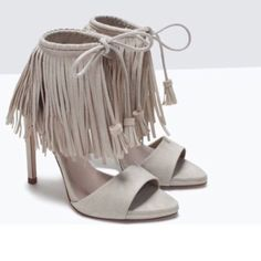 Zara Fringe Heels Bloggers biggest hit of SS15!! Zara Shoes Heels