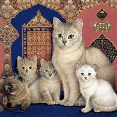 Lesley Anne Ivory art  ...........  Pets of the ancient royals.