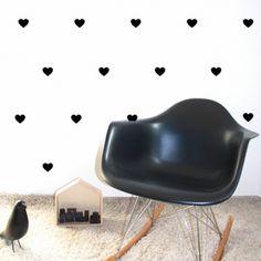 Stickers muraux coeurs - noir