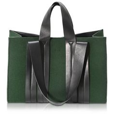 Corto Moltedo Costanza Beach Club Large Felt Green Tote ($1,050) ❤ liked on Polyvore featuring bags, handbags, tote bags, tote bag purse, handbags totes, beach tote, green purse and green tote