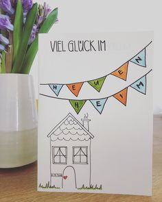 Umzug 🏡 Stamping Up, Funny Gifts, Hand Lettering, Diy And Crafts, Card Making, About Me Blog, Greeting Cards, Presents, Christian