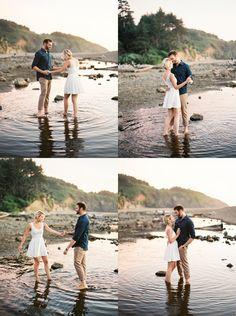 Oregon Coast Engagement Photography   Ivy and Gold Fine Art Film Wedding Photography