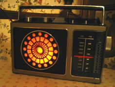 Old Zenith radio repurposed into a lamp.