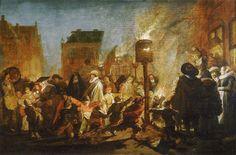 Pieter de Molijn, Avondfeest op de Grote Markt te Haarlem, ca. 1625