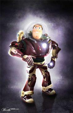 Buzz eclair X Iron Man