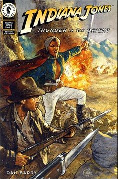 Indiana Jones, Thunder in the Orient.  Cover by Hugh Fleming.  Issue #5 (1993)