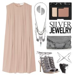 Sweet Silver by twenty-7 on Polyvore featuring CO, Gianvito Rossi, STELLA McCARTNEY, Topshop, Uncommon Matters, Elizabeth and James, NARS Cosmetics and silverjewelry