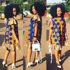 Stylish and classy Ankara Lovely styles - Ankara collections brings the latest high street fashion online African Print Dresses, African Print Fashion, African Wear, African Attire, African Fashion Dresses, African Women, African Dress, Ankara Fashion, Fashion Maman