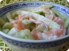 Tagliatelles de concombre et saumon fumé