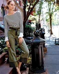 The J.Crew striped boatneck T-shirt. With built-in French cuffs (ooh la la).