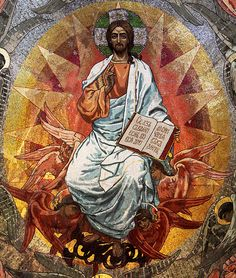 Picture of Jesus Christ mosaic in orthodox church, Petersburg stock photo, images and stock photography. Christ Pantocrator, Pictures Of Jesus Christ, Canvas Art, Canvas Prints, Orthodox Icons, Sacred Art, Christian Art, Religious Art, Fine Art America