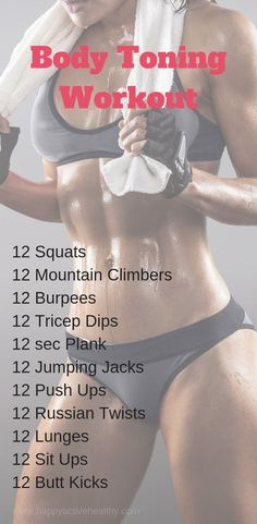 Get a full body workout at home. These are perfect 30 day fitness challenges. - Get a full body workout at home. These are perfect 30 day fitness challenges. For women and men, ev - 30 Min Workout, Full Body Workout Routine, Full Body Workout At Home, 30 Day Workout Challenge, Toning Workouts, Fitness Workouts, Fun Workouts, Workout Routines, At Home Workouts For Women Full Body