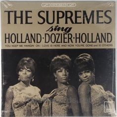 """The Surpremes - Sing Holland-Dozier-Holland (Motown; 1966)  This LP might be the best album the Supremes ever made.  It includes two #1 hits: """"You Keep Me Hanging On"""" and """"Love is Here and Now You're Gone."""" The copy shown is a sealed original pressing. #albums #vinyl #records  Click here to learn more about this record: http://www.rarerecords.net/store/supremes-sing-holland-dozier-holland-sealed-1966-stereo-motown-lp/"""