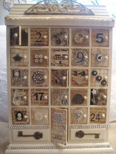 Shabby Chic Christmas Calendar Advent by AnneMariePaperie on Etsy