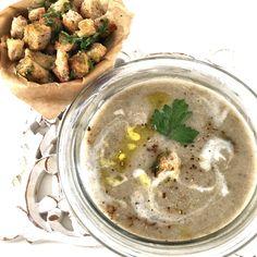 Supa crema de champignon, pufoasa, aromata si rapida