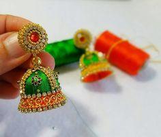 How to make silk thread bridal jhumkas