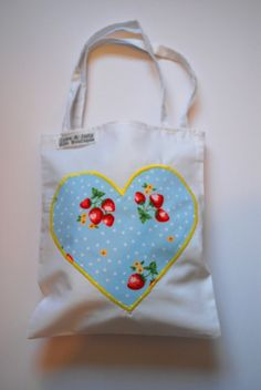 Girls Mini Heart Tote Bag. by cakenjelly on Etsy