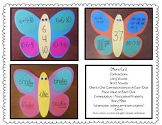 Great idea for using butterflies to work on fact families or number representations.