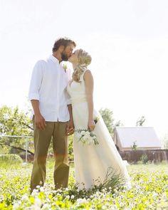 Organic Wedding Dress - Full Length -  Eco Friendly Wedding - Creme - Natural. $260.00, via Etsy.